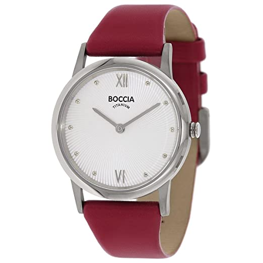 Boccia Damen Digital Quarz Uhr mit Leder Armband 3265 01