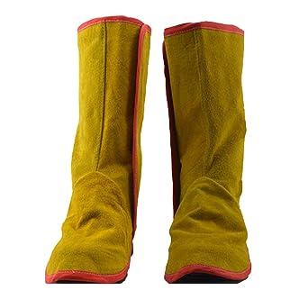 sharplace Soldadura polainas Cubierta Zapatos Pies Protección De Piel Resistente al Fuego: Amazon.es: Industria, empresas y ciencia