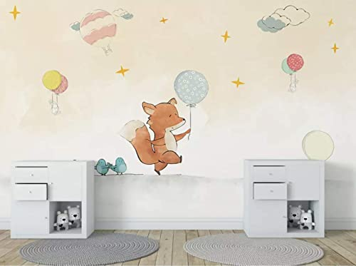 Amazon Com Murwall Kids Wallpaper Mr Fox Wall Mural Nursery Wall Decor Little Birds Wallpaper Girls Boys Bedroom Wall Art Child Art Wall Painting Handmade