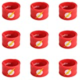 Ecparty Superhero Slap Bracelet for Kids Boys & Girls Birthday Party Supplies Favors (9 pack) (Flash-Man)