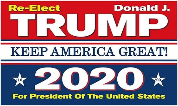 Amosfun Bandera de la elección del Presidente Trump 2020 Bandera ...