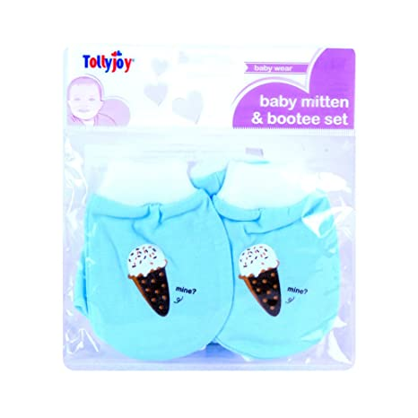 1df8cdce53e0 Tollyjoy Baby Mitten and Bootie Set - Mine  Amazon.in  Baby