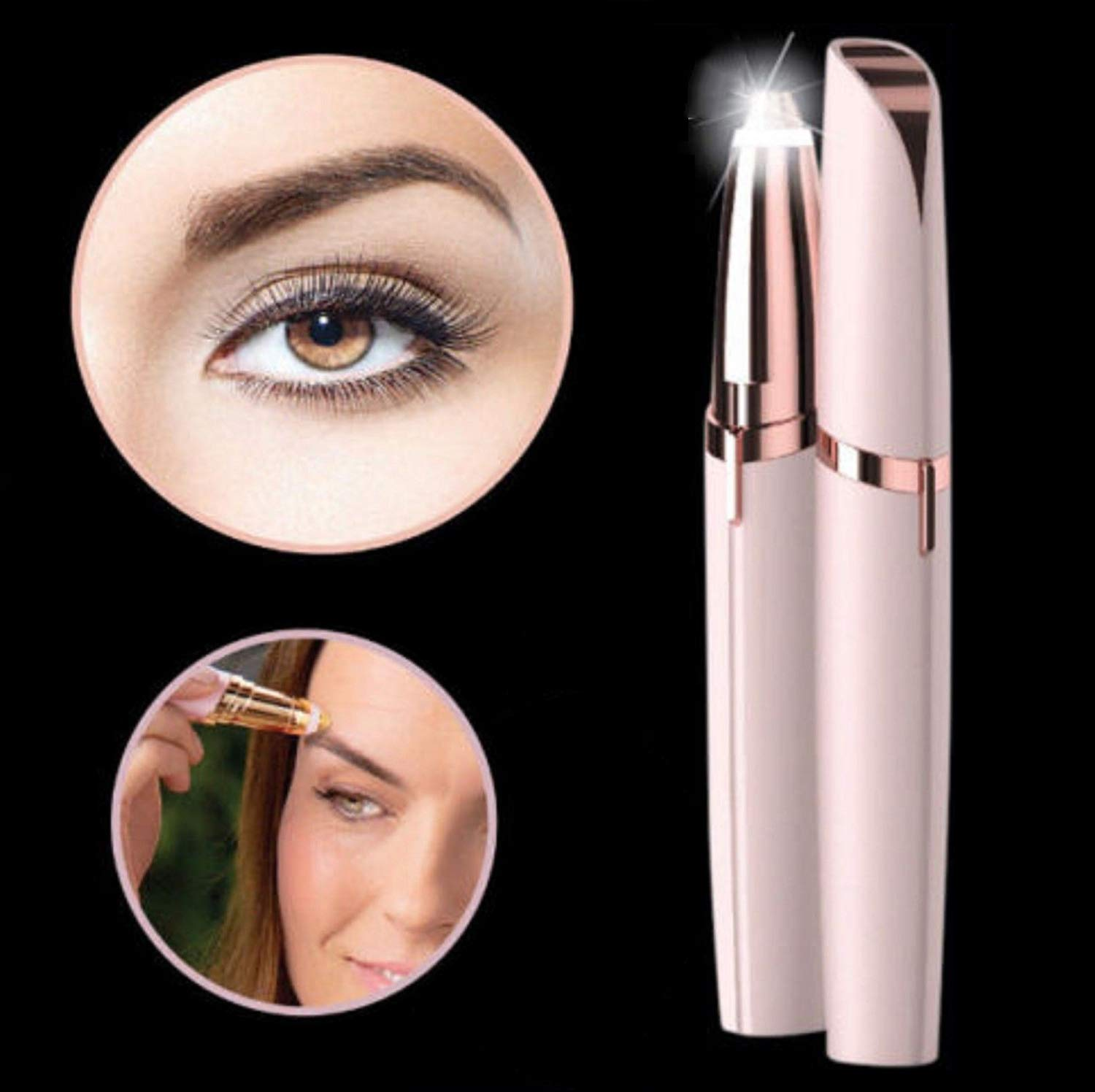 Flawlessly Brow Hair Remover - Brows Best Eyebrow Trimmer Women Painless Hair Remover, Flawlessly Eyebrow Remover As Seen On TV by Life In Color (Image #1)