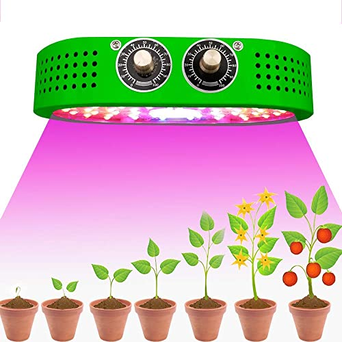 COB LED Grow Light Dimmable Adjustable Full Spectrum IR UV Panel Lamps for Greenhouse Indoor Hydroponics Plants Micro Greens Clones Succulent Seedling Germination 1100W