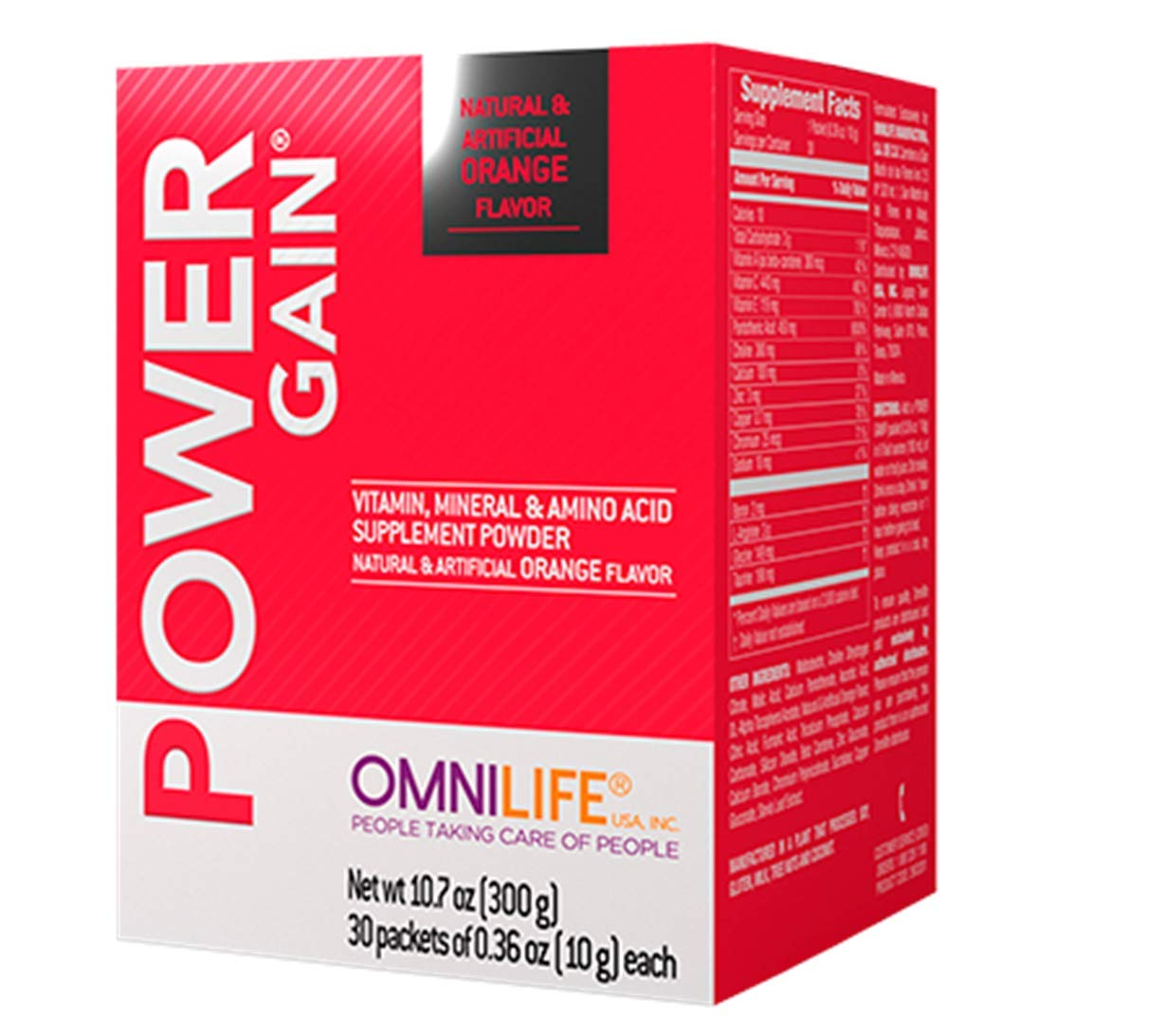 Omnilife Power Gain, Box with 30 Sachets 300 Grams.