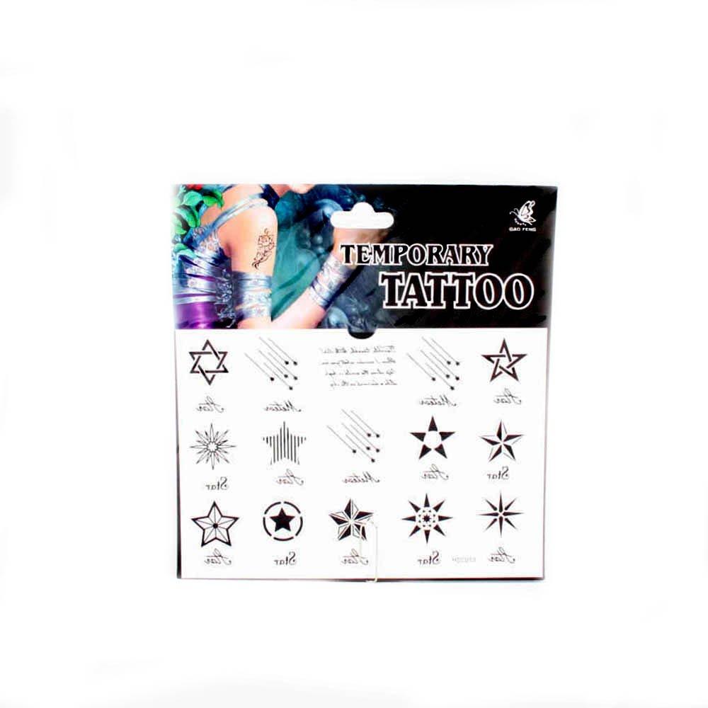 Tatuajes con diferentes estrellas y estrellas fugaces: Amazon.es ...