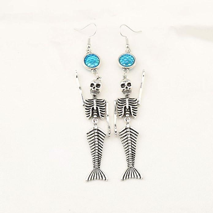 Amazon.com: WUSUANED - Llavero de sirena con esqueleto para ...