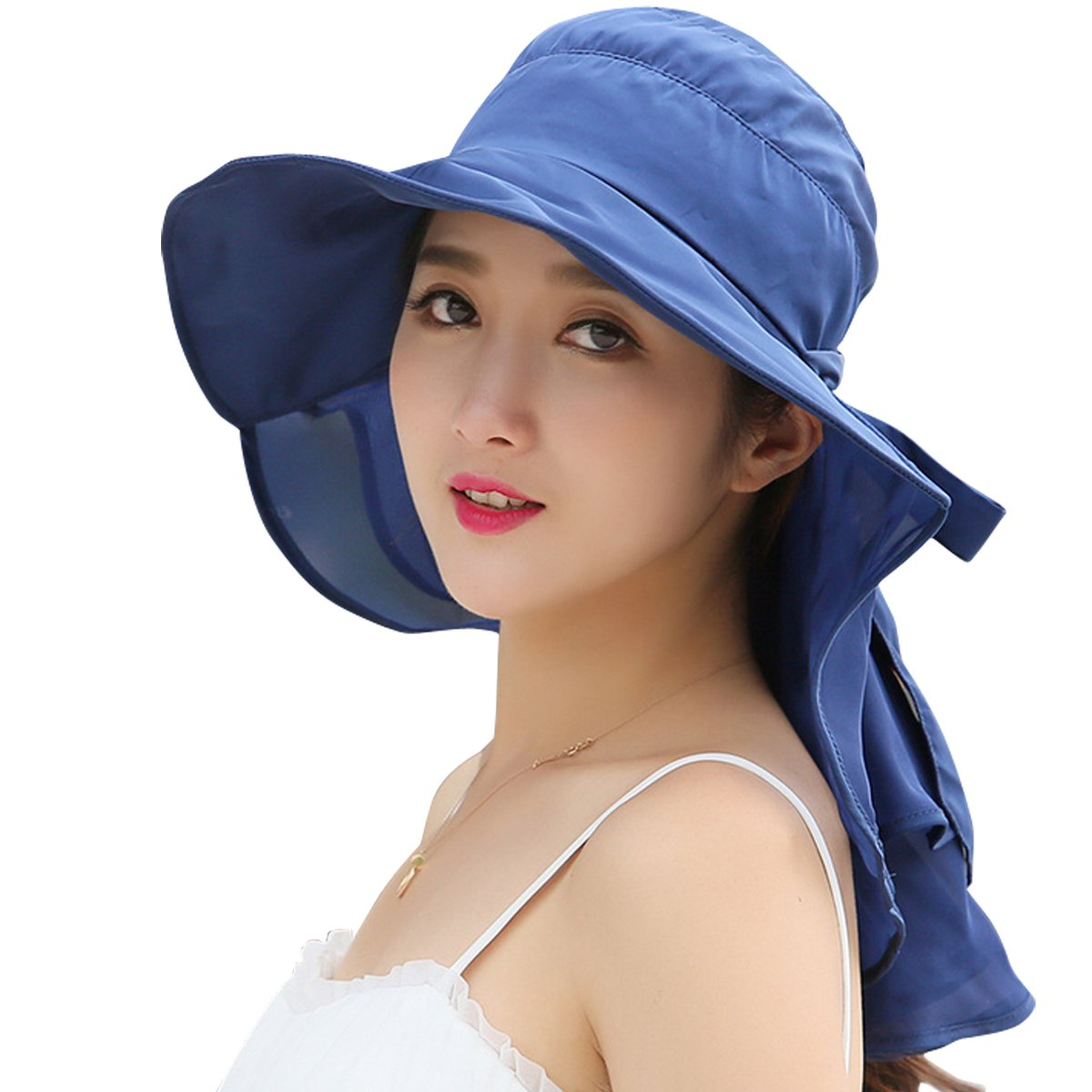 d661f49e Online Cheap wholesale Lanzom Women Large Brim Adjustable Quick-Drying  Outdoor Sun Hat with Net Protection Sun Hats Suppliers
