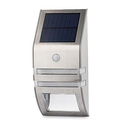 Xsayjia Lampe Solaire LED en acier inoxydable solaire pour l ...