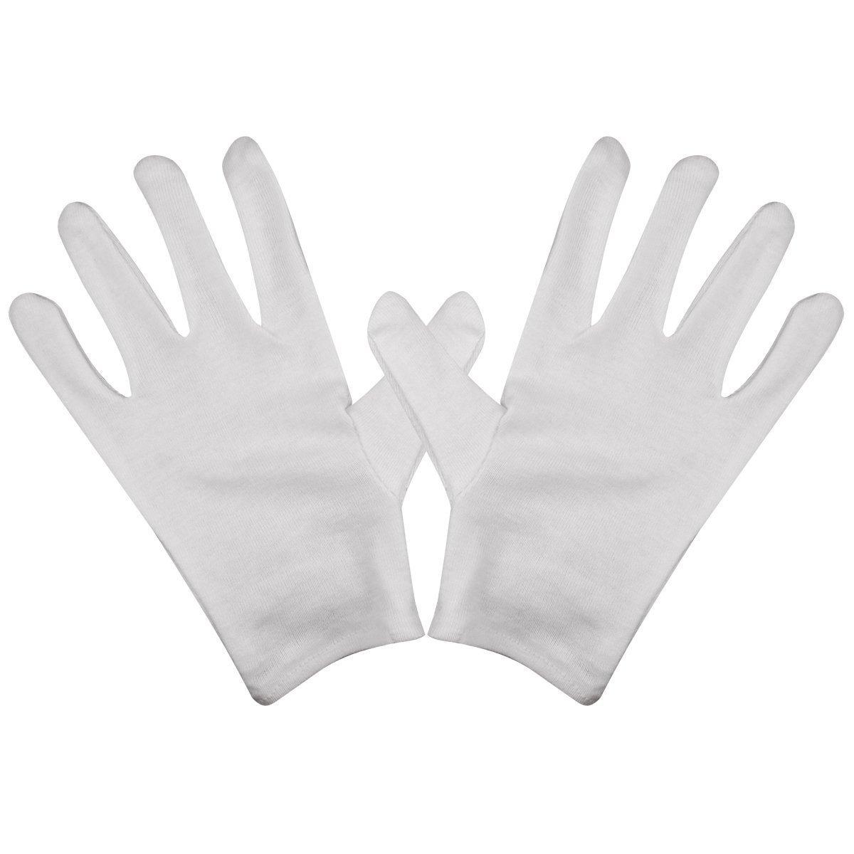 BLUECELL White Cotton Gloves Pack-8 Gloves, film, coins, CD/DVD, Handling Gloves