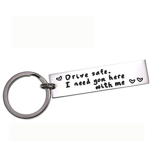 Amazon.com  LParkin Drive Safe Keychain I Need You Here with Me ... 799c1b5531