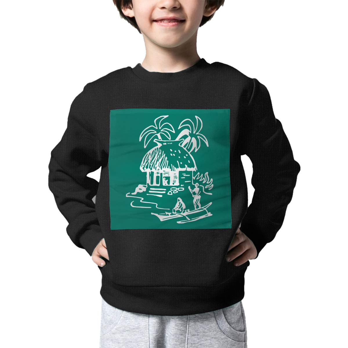 Childrens Tiki Hut Sweater Baby Boys Pullover Sweaters