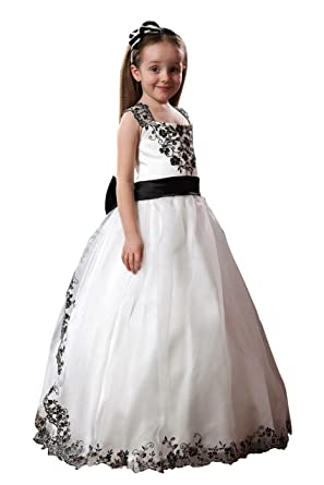 4826757aa Amazon.com  Fannydress Embroidered Beaded Sequins Flower Girl ...