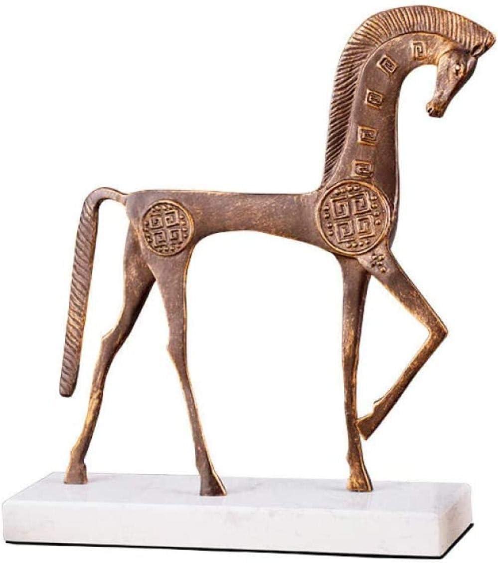DQQQ Adornos de Escultura Escultura de Caballo de Hierro Fundido de Metal Hogar Sala de Estar Decoración de Estudio Adornos de artesanía-A_Large: _35 * 9 * 38CM