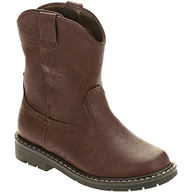 more photos dedd6 9438a Faded Glory Boys  Pull-on Wellington Boot Cowboy Brown (Little Kid (Boy
