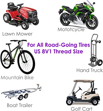 Pink Breast Cancer Awareness Tire Valve Stem Cap+Seal TPMS Safe Schrader Valve 8V1 Compatible with Bike Motorcycle Car CUV SUV RV 4 PCS