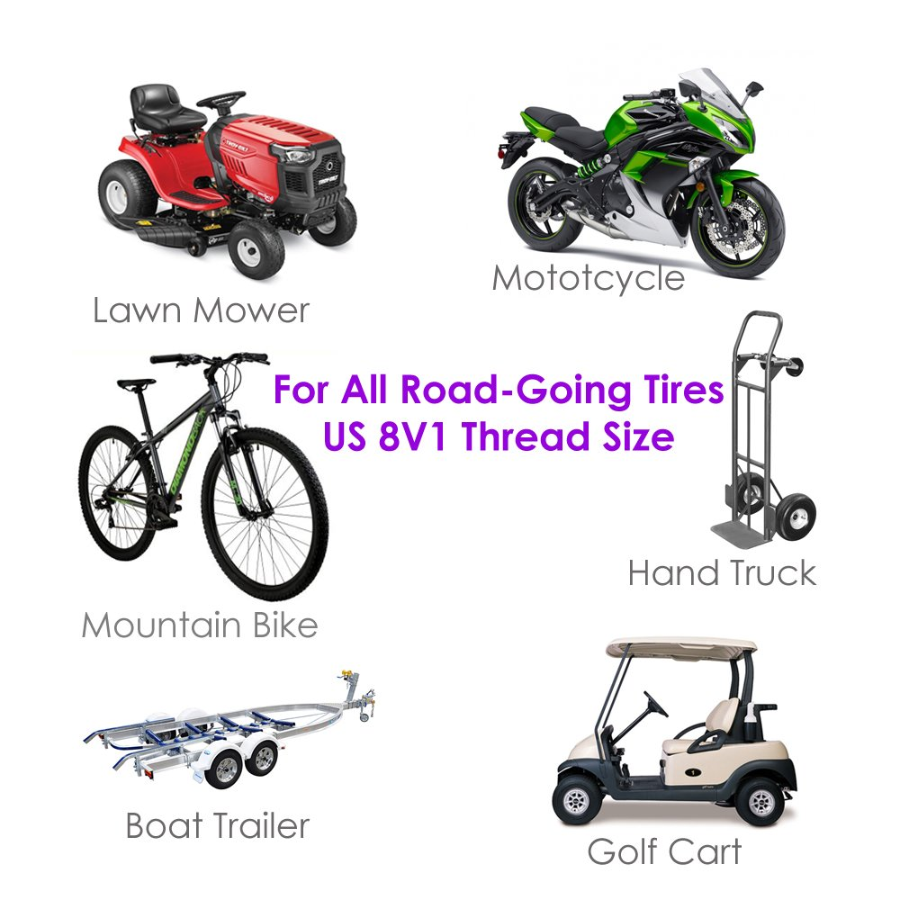 Rubber Seal 12x12mm for Motorcycle Bike Car Truck SUV Jeep ATV//UTV Minivan RV BMX Hot Rod Gold Dice Aluminum Tire Valve Stem Cap Cover 4 PCS