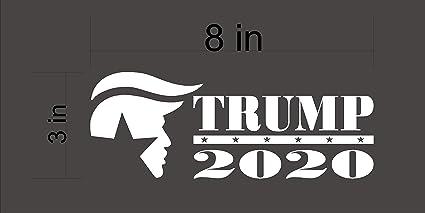President Donald Trump Window Decal Head 2020 Sticker Car Truck Laptop White