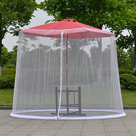 KiMiLIKE Pantalla del Insecto jardín al Aire Libre Paraguas Parasol Mosquitero Mosquitera sombrilla Parasol del Paraguas al Aire Libre: Amazon.es: Hogar