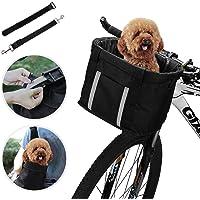 ANZOME Fahrradkorb, faltbar, für kleine Haustiere, Katzen, Hunde, Abnehmbarer Fahrrad-Lenkerkorb, Schnellentriegelung, einfache Installation, abnehmbare Fahrradtasche, Mountain Picknick, Einkaufen.