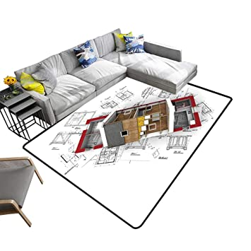 Pleasing Amazon Com Abstract Design Area Rug D Rendering Of A Download Free Architecture Designs Embacsunscenecom