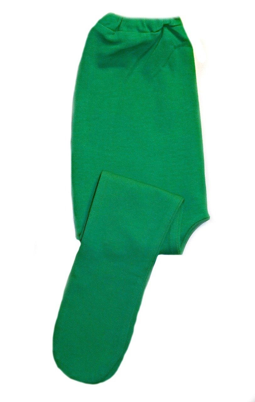 Jacqui's Baby Girls' Kelly Green Cotton Spandex Knit Tights, 12-24 Months