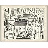 Vintage Medical Instruments Art Print - 11x14 Unframed Art Print - Great Gift for Medical and Nursing Students