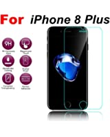For iPhone 8 Plus 5.5inch, Mchoice Clear Premium Tempered Glass Screen Protector Film for iPhone 8 Plus 5.5inch