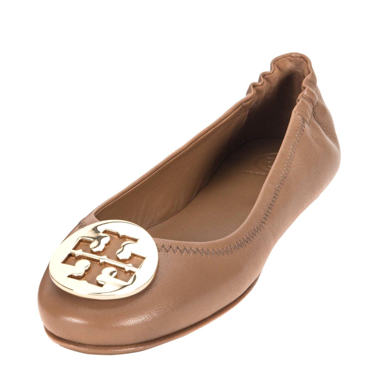 8bf26d4e20b4 Tory Burch Woman s Ballerina Tory Burch Minnie Travel In Nappa Cuoio  Amazon .ca  Shoes   Handbags