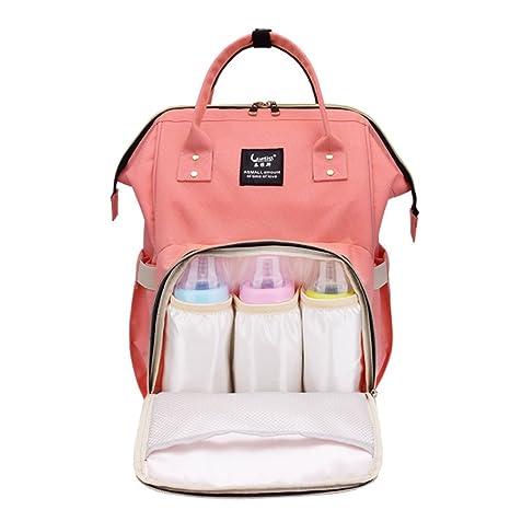 Mochila para pañales para cuidado del bebé, multifuncional para bebé pañal bolso cambiador con bolsillos