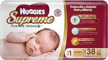 Huggies Supreme, Unisex, Etapa 1, 228 Pañales
