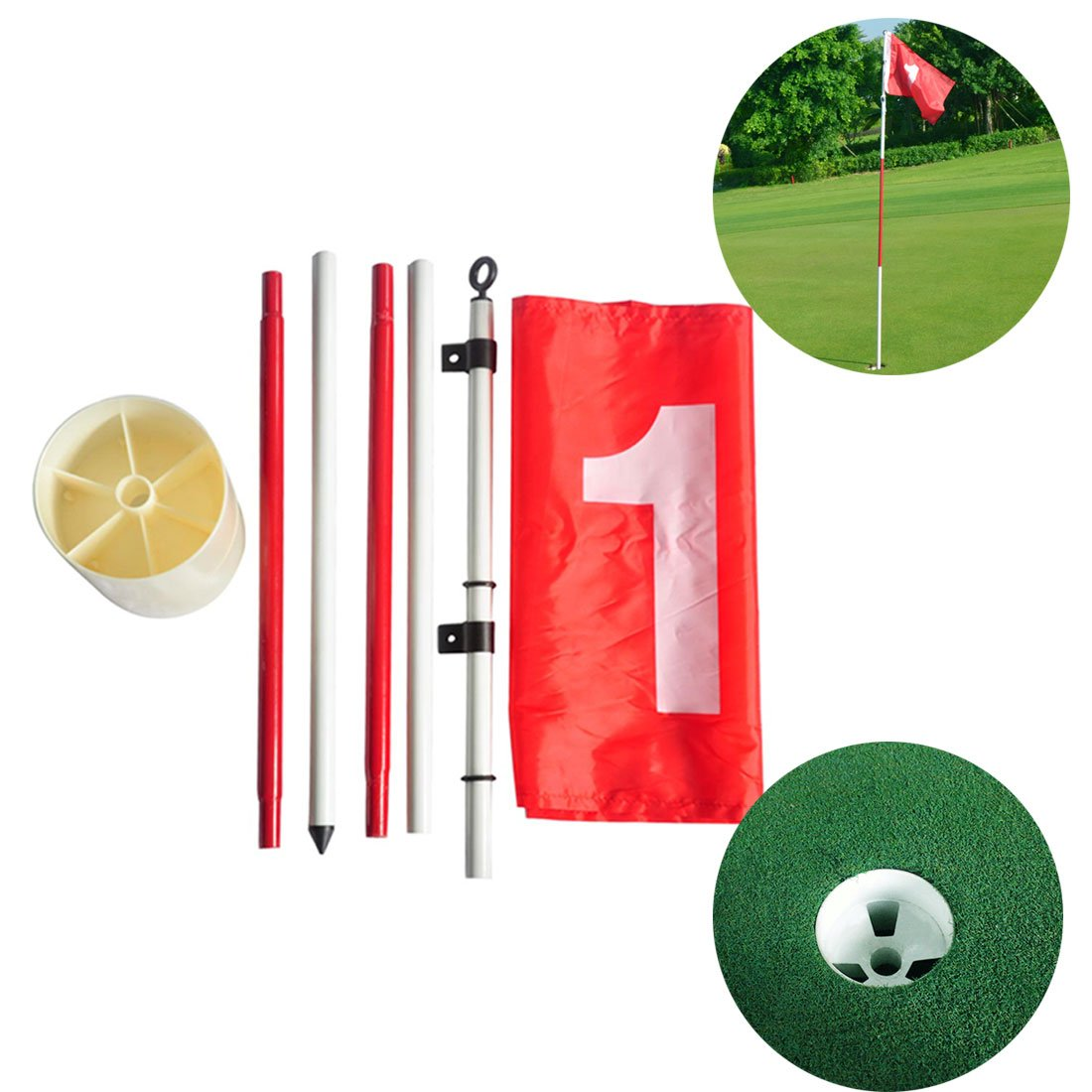 Funmall Golf Cup with Backyard Flag Pole
