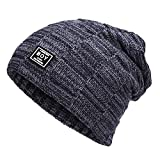 Kinsports Winter Warm Knitting Hats Wool Warm Hat Daily Slouchy hats Beanie Skull Cap (Navy)
