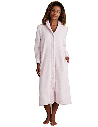 Ladies Marks & Spencer M&S Collection Dressing Gown Pink Carved ...