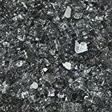 """Fire Glass for Fire Pits Grey 1/4"""" for Reflective Glass Pellets (20Lbs)"""