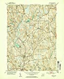 YellowMaps Eastford CT topo map, 1:31680 Scale, 7.5 X 7.5 Minute, Historical, 1953, Updated 1954, 20.7 x 16.9 in - Tyvek