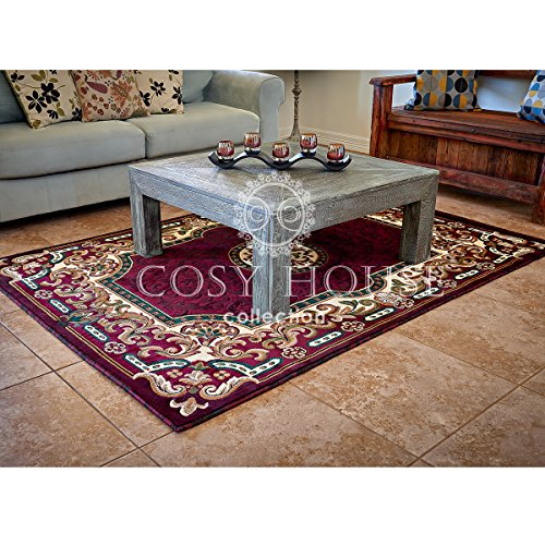 Cosy House Contemporary Area Rugs for Indoors | Persian Living Room Home Decor | Resists Stains, Soil, Fading & Freying | Power Loomed in Turkey, 5