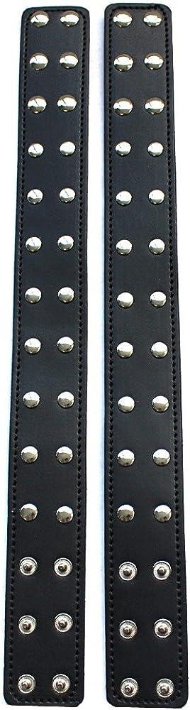 iiniim Mens Adjustable Leather Body Chest Harness Belt with Armbands Black