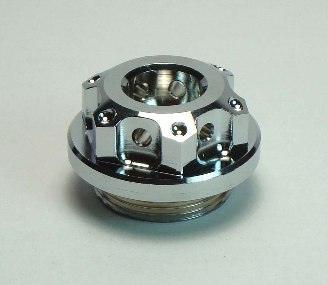 /Ölverschlu/ß /Öldeckel verplombbar Kawasaki M 30 x 1,5 chrom CNC Aluminium