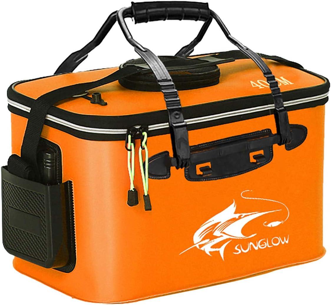 Fishing Portable Bag Foldable Belt Bucket Life Bait Waterproof Gear Box 50 //45Cm