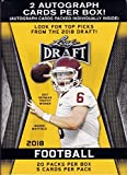 #8: 2018 LEAF NFL DRAFT Series Factory Sealed Blaster Box of Packs with 2 GUARANTEED Autographed Cards per box! One of the First 2018 Football Products on the market!