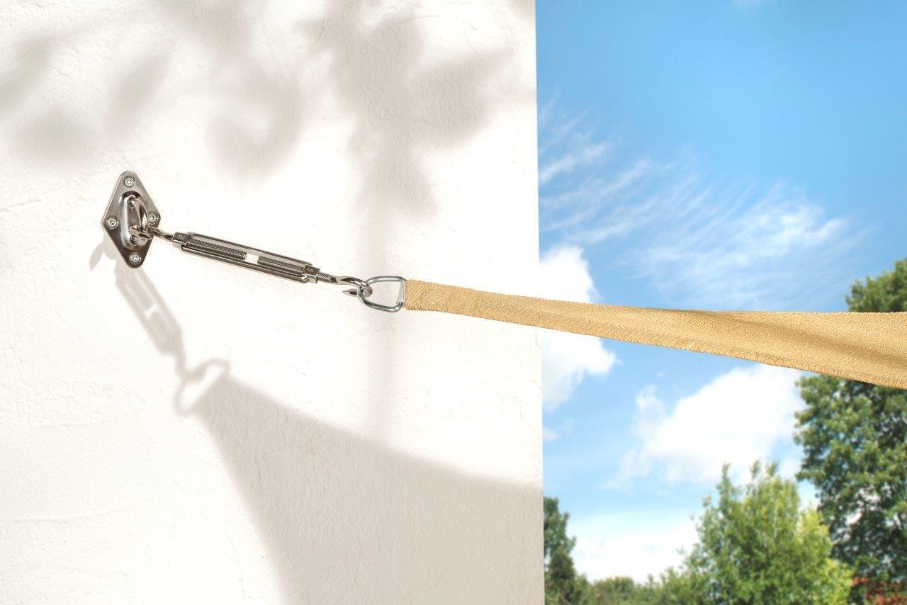 WOHNWOHL SONNENSEGEL 3,6X,3,6m; 90/% Sonnen und UV-Schutz