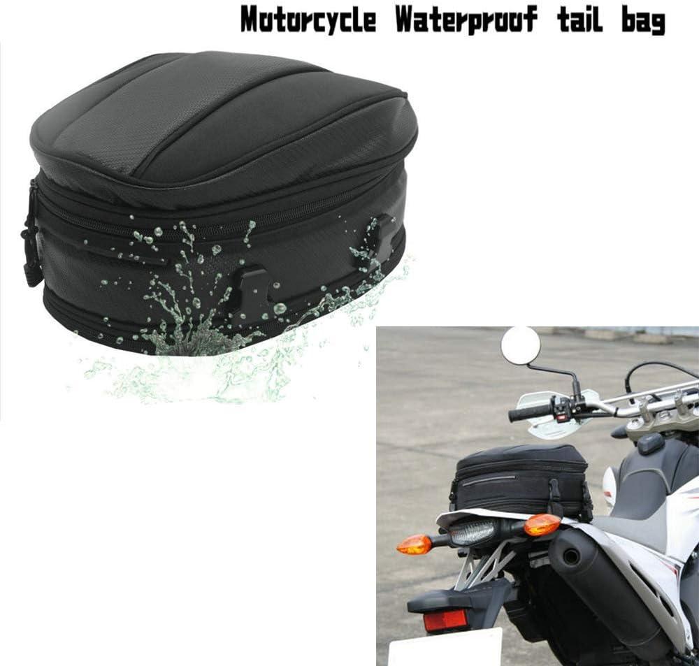 Motorrad Rücksitz Tail Pack Tasche Wasserdicht Leder Erweiterbar Gepäcktasche Pu 7 5 10l Kapazität Für Universal Fit Auto