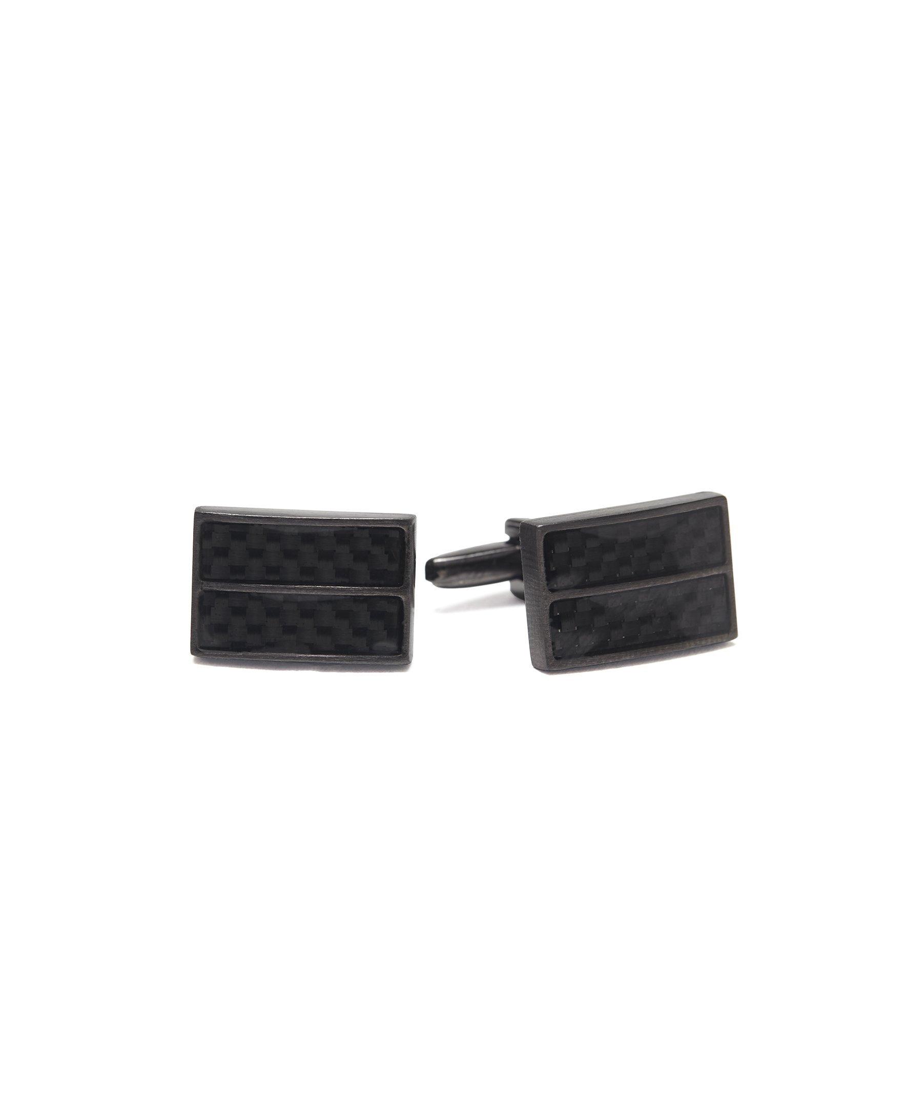 Kenneth Cole REACTION Men's Cufflinks, black gunmetal, One Size