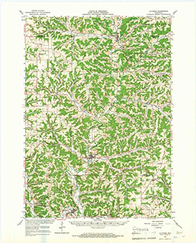 YellowMaps La Farge WI topo map, 1:62500 Scale, 15 X 15 Minute, Historical, 1965, Updated 1967, 21.21 x 17.13 in - Paper ()