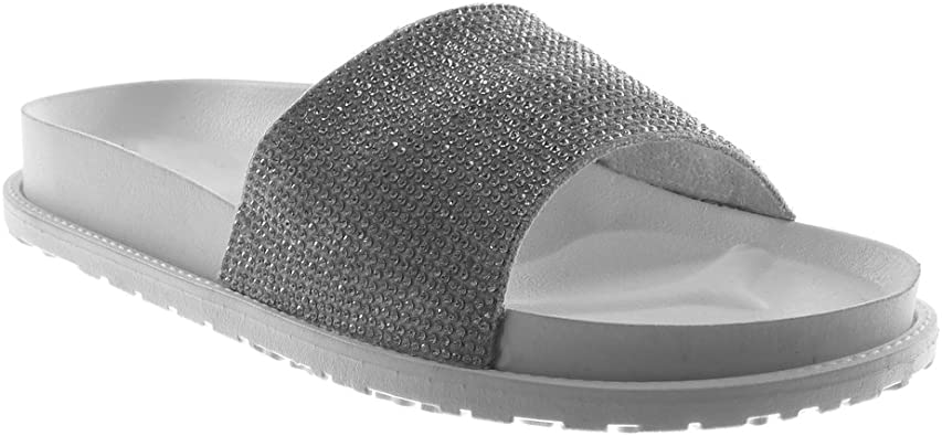 Angkorly Chaussure Mode Mule Sandale Slip on Claquettes