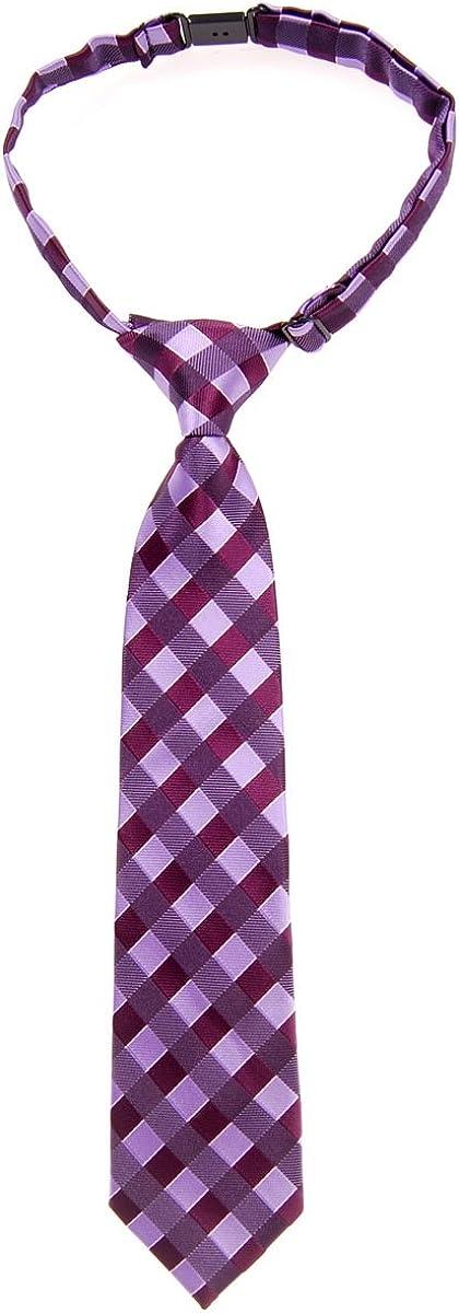 Retreez Jungen Gewebte vorgebundene Krawatte Klassische Karo