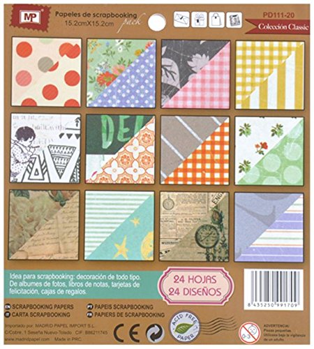 Amazon.com : MP PD111 - 20 - Block of Scrapbooking Double Sided : Office Products