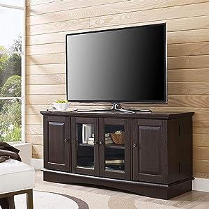"WE Furniture Tv Stand, 52"", Espresso"