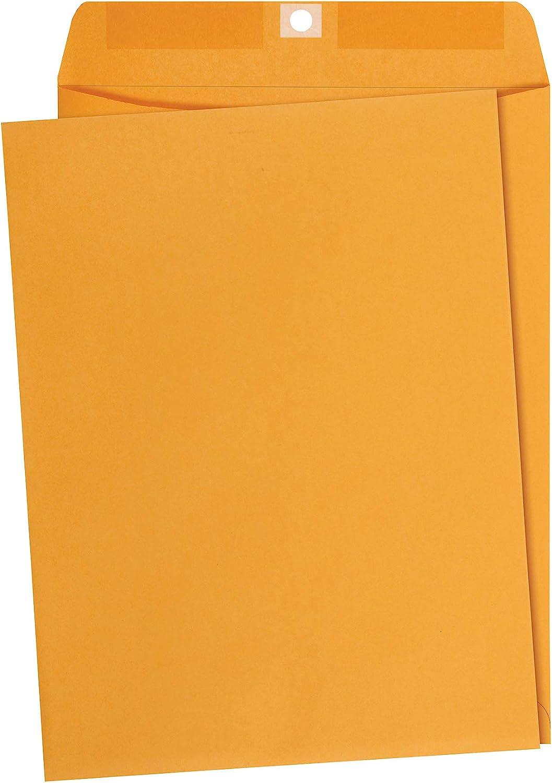 AmazonBasics 9 x 12-Inch Clasp Kraft Envelopes, Gummed, 100-Pack